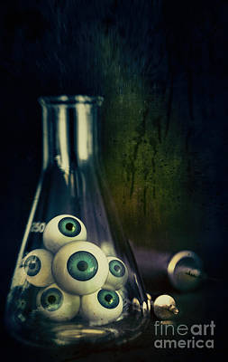 Photograph - Eyeballs In Lab Beaker With Needles by Sandra Cunningham