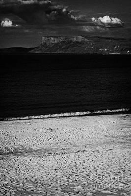 Fair Head On The North Antrim Coast With Ballycastle Sandy Beach Art Print by Joe Fox