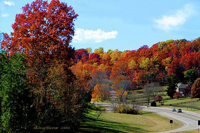 Fall Drive In Tennessee Art Print by EricaMaxine  Price