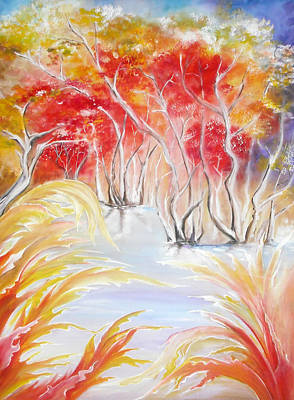 Colourfull Painting - Fall by Mila Gertsenchtein