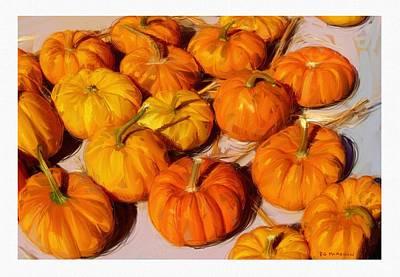 Fall Pumpkins Art Print by RG McMahon