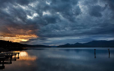 Photograph - Fall Sunset Over Lake Pend Oreille by Marie-Dominique Verdier