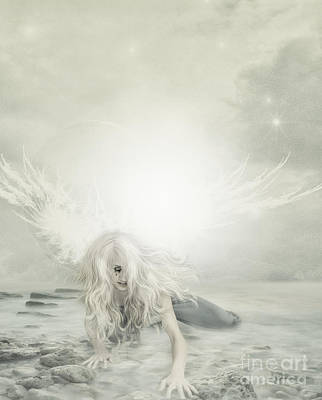 Rock Angels Digital Art - Fallen Angel by Lee-Anne Rafferty-Evans
