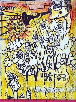 Folk Art Mixed Media - Fallen Angel by Robert Wolverton Jr