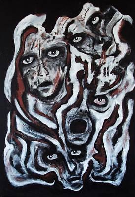 Painting - Falling Apart by Katerina Apostolakou