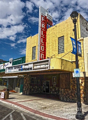Fallon Nevada Movie Theater Art Print by Gregory Dyer
