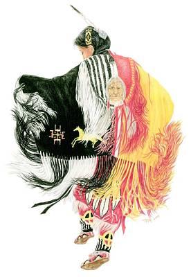 Fancy Shawl Dancer At Star Feather Pow-wow Original by Tim McCarthy