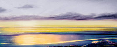 Painting - Fancy That - Panoramic Sunset by Gina De Gorna