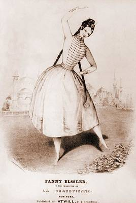 Slavic Photograph - Fanny Elssler 1810-1884. Austrian by Everett
