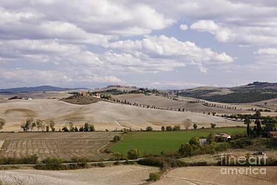 Sienna Italy Photograph - Farm Fields by Jeremy Woodhouse
