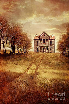 Photograph - Farm House On Hill With Autumn Scenery by Sandra Cunningham