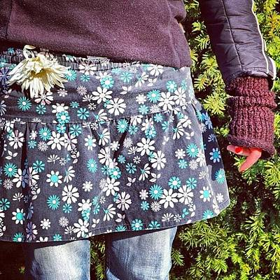 Florals Photograph - Fashion And Nature - Floral Skirt by Matthias Hauser