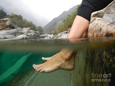 Feet Under The Water Art Print by Mats Silvan