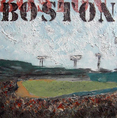 Red Sox Painting - Fenway by Romina Diaz-Brarda