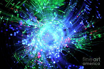 Fiber Optic Swirl Art Print by Sami Sarkis