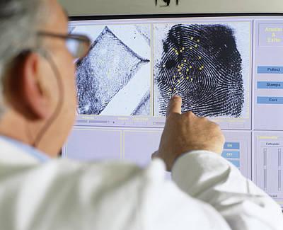 Fingerprint Analysis Art Print by Mauro Fermariello