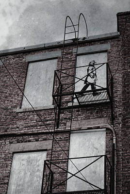 Fire Escape  Art Print by Empty Wall