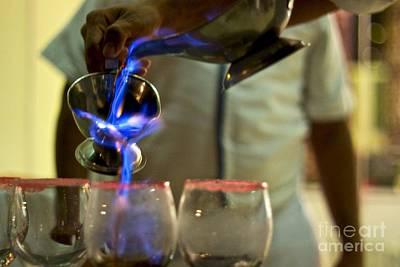 Pour Photograph - Fire Pour 3 by Darcy Evans
