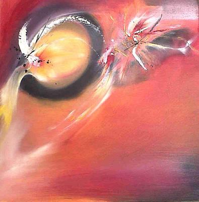 Painting - Fireflies. by Paula Steffensen