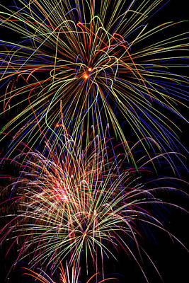 4th July Photograph - Fireworks Celebration by Garry Gay