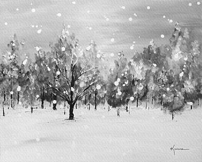 Painting - First Snow by Kume Bryant