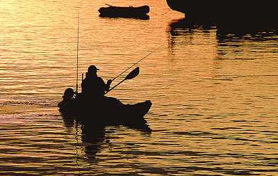 Fisherman Print by Sherri Powell