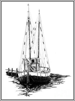 Seattle Drawing - Fishing Boat by Kelly Morgan