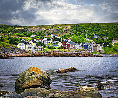 Hamlet Photograph - Fishing Village In Newfoundland by Elena Elisseeva