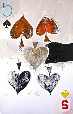 Painting - Five Of Spades 20-52 by Cliff Spohn