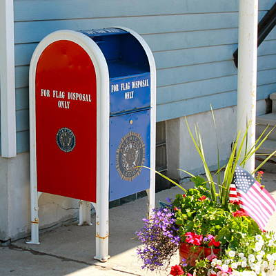 Photograph - Flag Disposal Box by Pamela Walrath