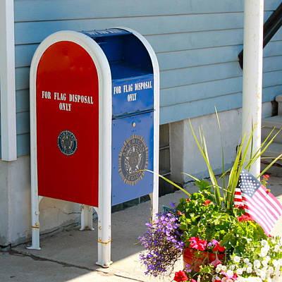 Photograph - Flag Disposal Box by Pamela Walrath