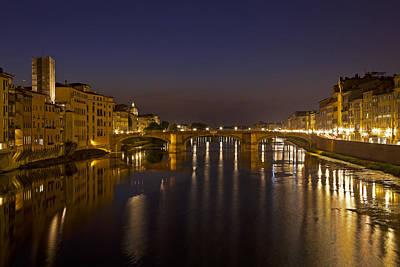 Florence - Ponte San Trinita Art Print by Joana Kruse