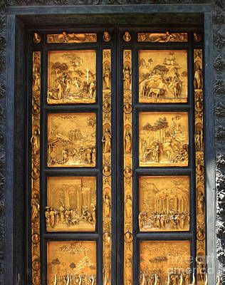 Florence Italy - Baptistry Doors Art Print by Gregory Dyer