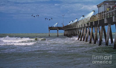 Art Print featuring the photograph Florida Fishing Pier by Gina Cormier