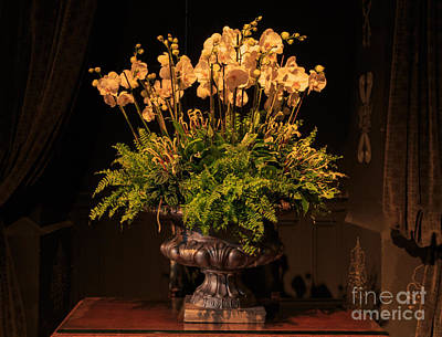 Flower Arrangement Chateau Chenonceau Art Print
