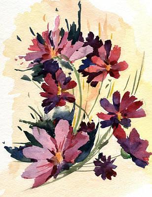 Purple Painting - Flowers by Natalia Eremeyeva Duarte