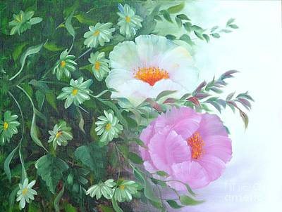 Decorativ Painting - Flowers by Renate Behr