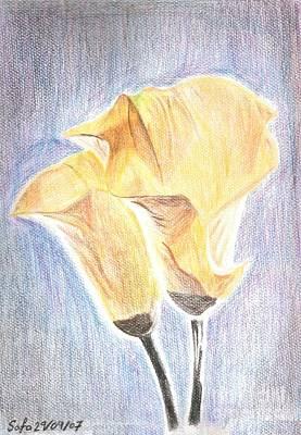 Flowers Art Print by Safa Al-Rubaye