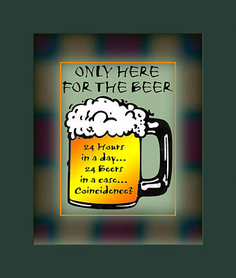 Alchol Photograph - For The Beer 1 by Daryl Macintyre