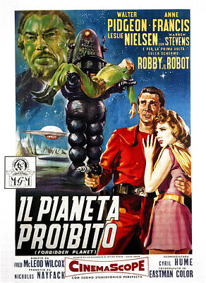 Forbidden Planet, Aka Il Pianeta Art Print by Everett