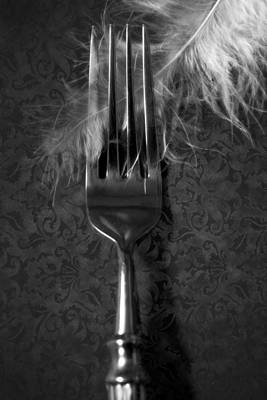 Fork And Feather Art Print