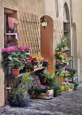 Digital Art - Forli Flowershop by Sharon Foster