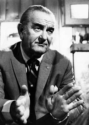 Former President Lyndon Johnson Art Print by Everett