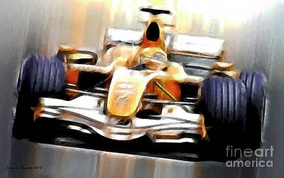 Formula One Art Print by Jerry L Barrett