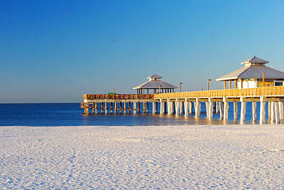 Fort Myers Beach Pier Art Print