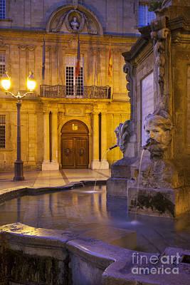 Photograph - Fountain Aix-en-provence by Brian Jannsen