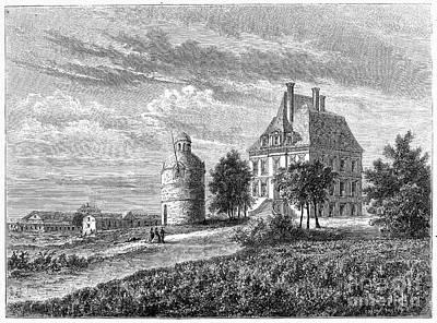 France: Wine Ch�teau, 1868 Art Print by Granger