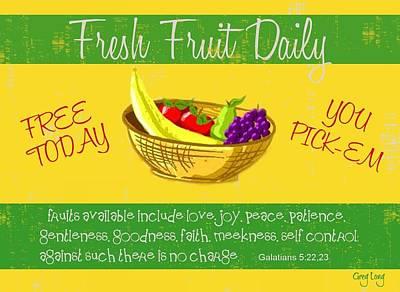 Free Fruit Art Print