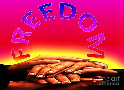 Digital Art - Freedom by Belinda Threeths