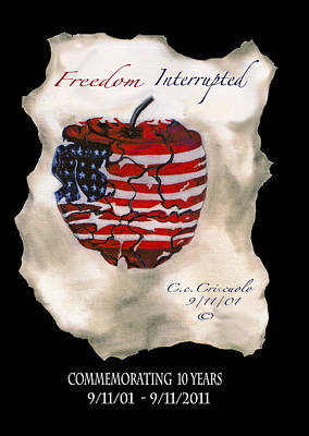 9 11 01 Mixed Media - Freedom Interrupted by catherine Criscuolo
